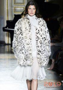 Шуба снежный барс мода 2019 года