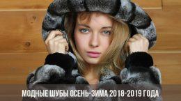 Модные шубы осень-зима 2018-2019 года
