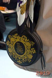 Модная сумка круглой формы