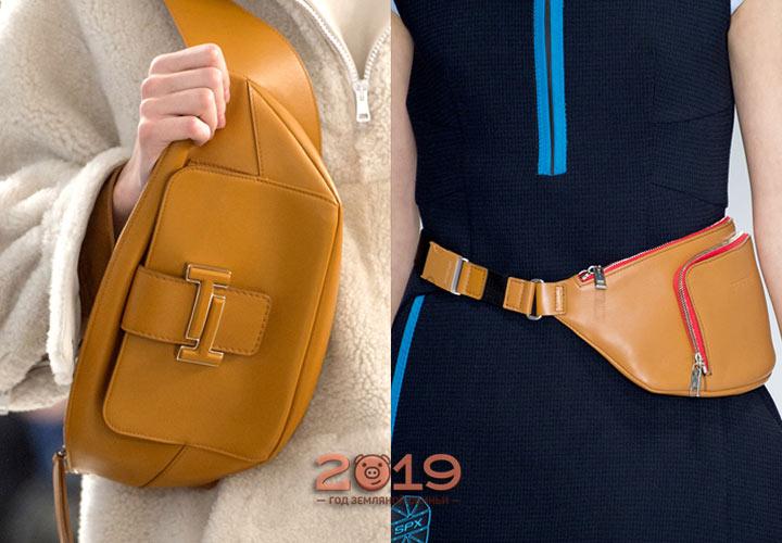Модные сумки-бананки 2019 года