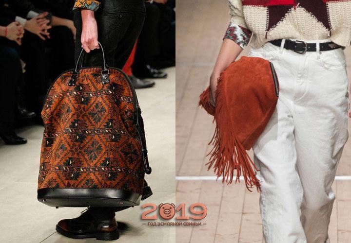 Модные сумки 2019 года в стилистике бохо
