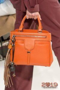 Модная оранжевая сумка зима 2018-2019