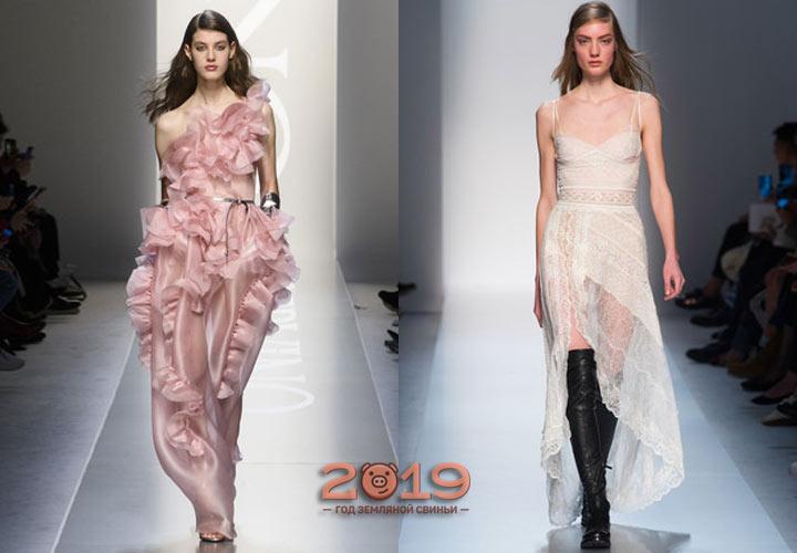 Платья в бельевом стиле осень-зима 2018-2019