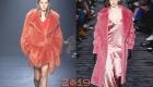 Модные розовые шубы осень-зима 2018-2019