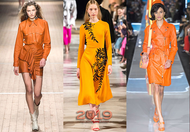 Яркий оранжевый цвет сезона осень-зима 2018-2019