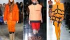 Модные оранжевые луки 2019 год