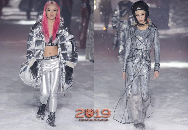 Металлический блеск модных луков 2018-2019 года