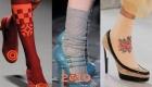 Носки + туфли мода осень-зима 2018-2019