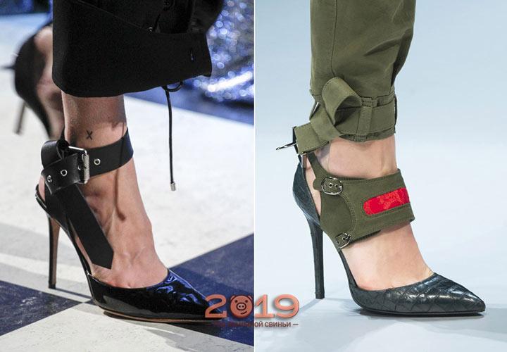 Стильные туфли с узким носком осень 2018