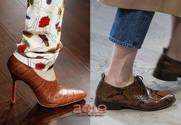 Модные кожаные туфли зима 2018-2019