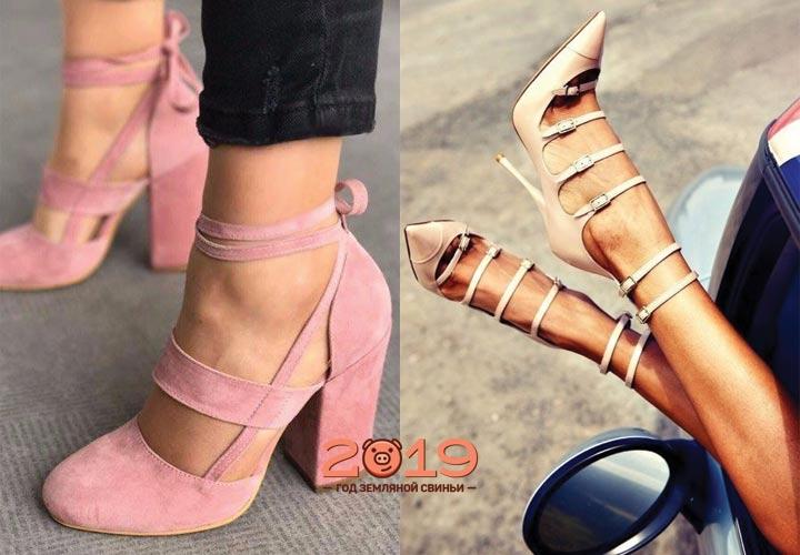 Светлые туфли зима 2019