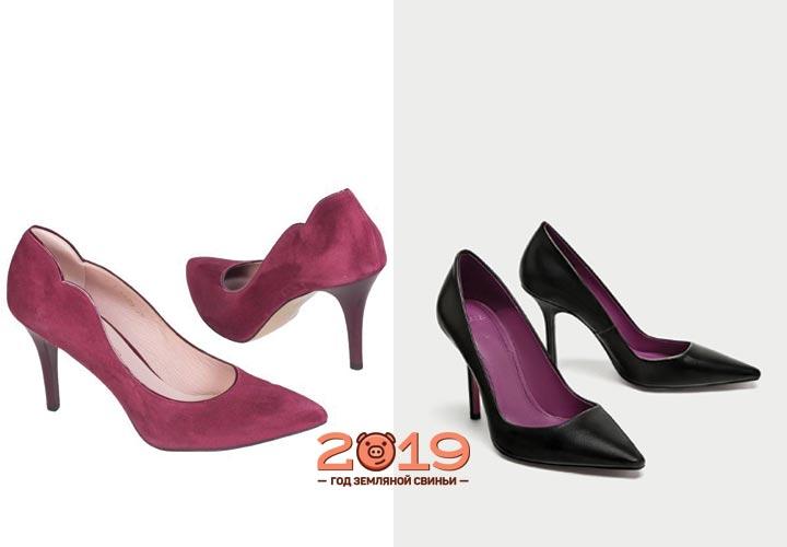 Туфли-лодочки фиолетового цвета