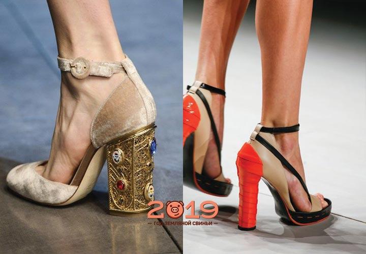 Цветные туфли для женщин осень 2018 года