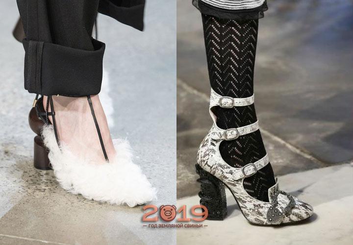 Скульптурные каблуки - тренд 2018-2019 года