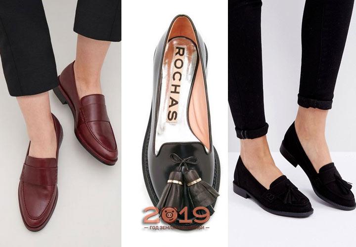 Лоферы - модная женская обувь сезона осень-зима 2018-2019