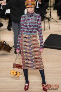 Модная твидовая юбка зима 2018-2019