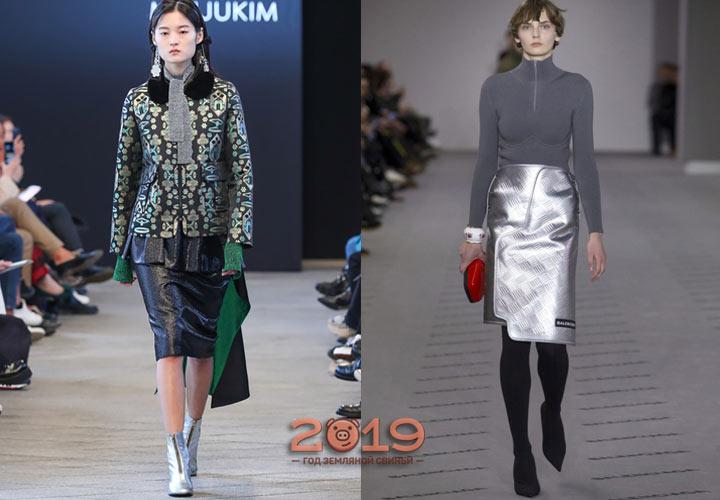 Блестящие юбки осень-зима 2018-2019