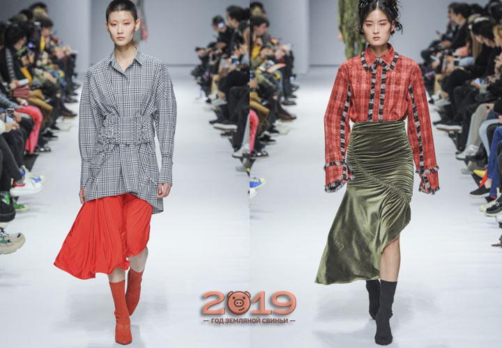 Цветные юбки 2018-2019 года