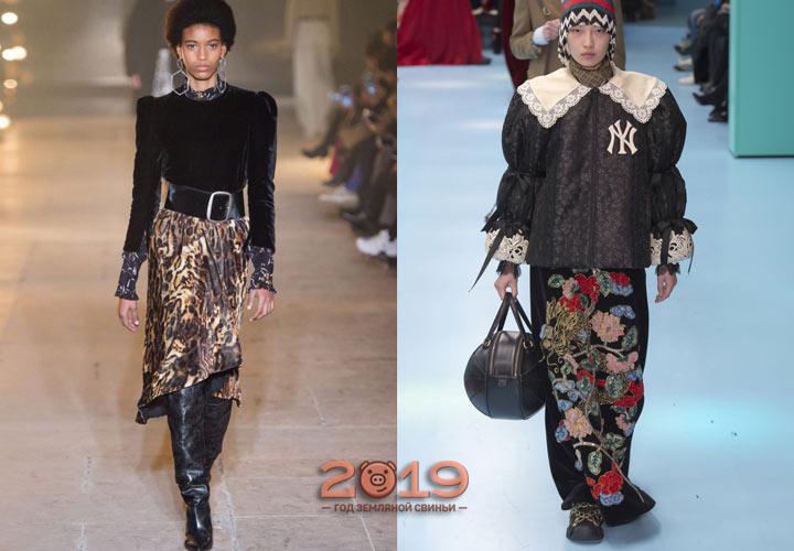 Принтованые юбки  осень-зима 2018-2019