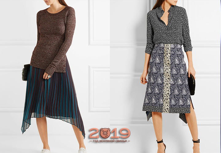 Асимметричные юбки 2018-2019