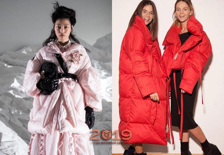 Модели пуховиков из коллекций сезона осень-зима 2018-2019