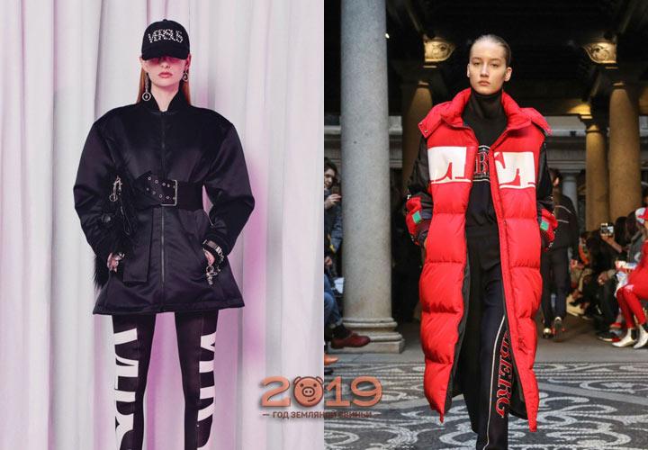 Эксклюзивные пуховики от дизайнеров осень-зима 2018-2019