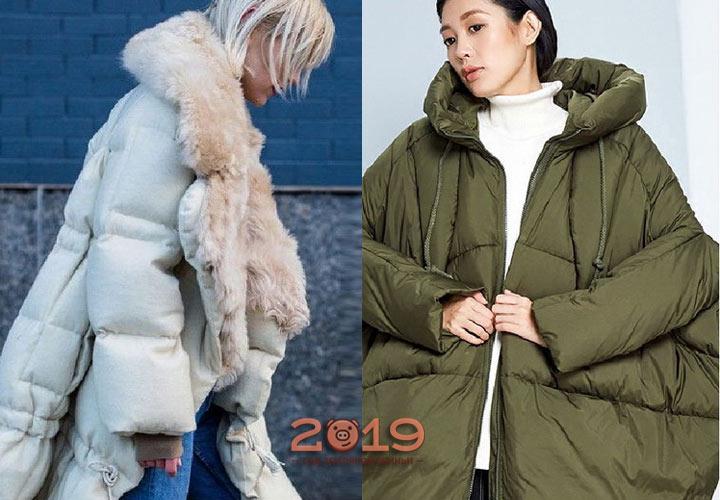 Пуховик оверсайз на зиму 2019 года