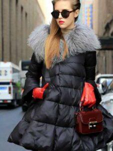 Пуховик платье на зиму 2018-2019 года