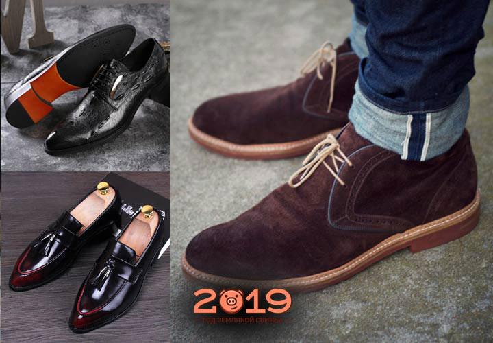 Трендовые мужские туфли 2019 года