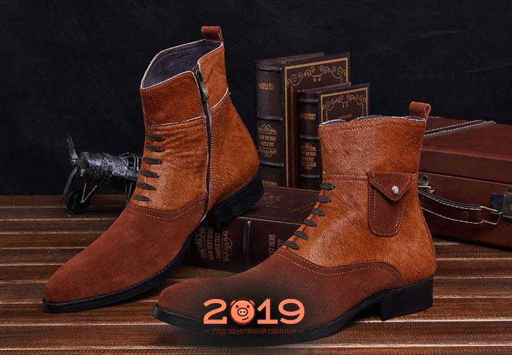 Кожаные ботинки и туфли для мужчин