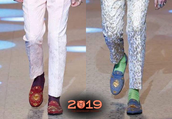Цветные туфли мужская мода 2018-2019 года