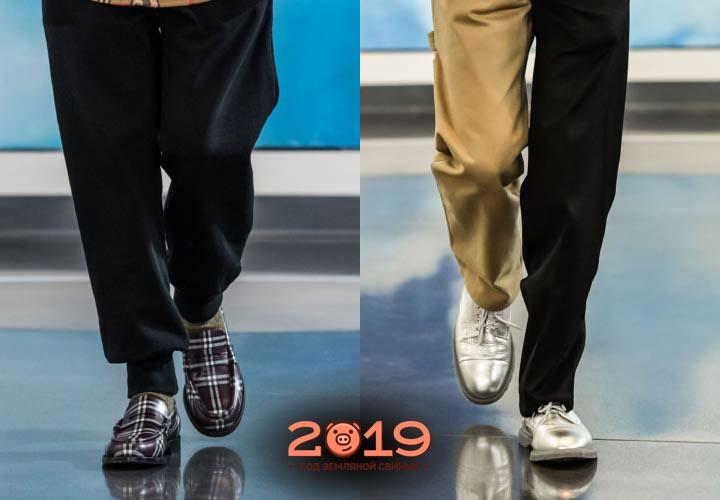 Туфли мужская мода зимы 2018-2019 года