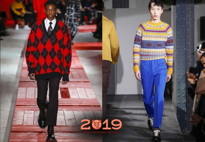 Стильные мужские свитера 2018-2019 года