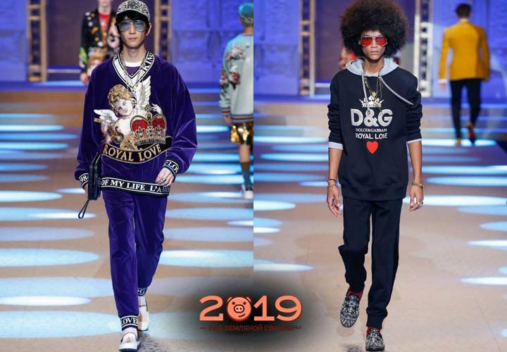 Спортивный костюм мужская мода 2018-2019 года
