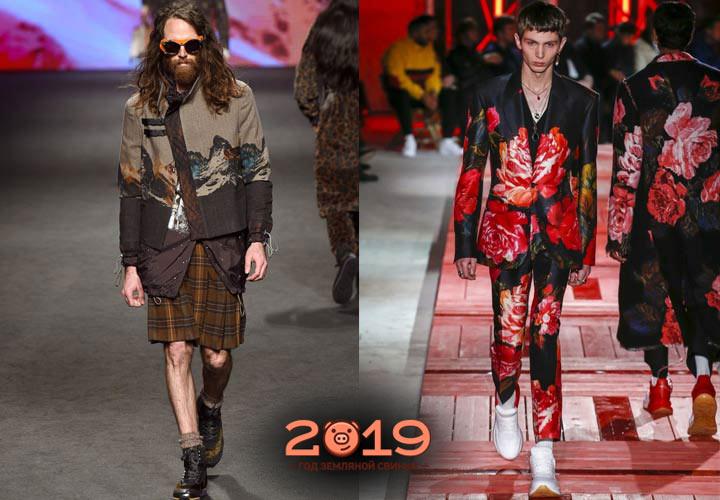 Дизайнерские мужские образы 2019 года