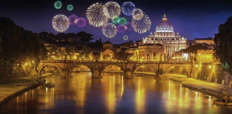 фейерверк в Риме