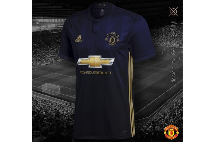 Layout of the guest form Manchester United for 2018-2019 year