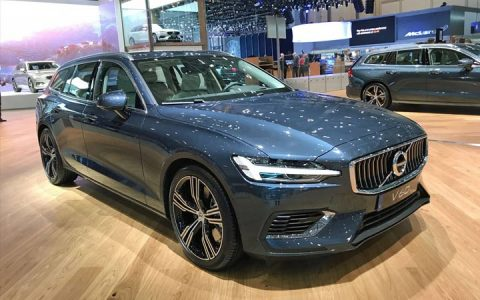 Presentation of the 2018-2019 Volvo V60 in Geneva