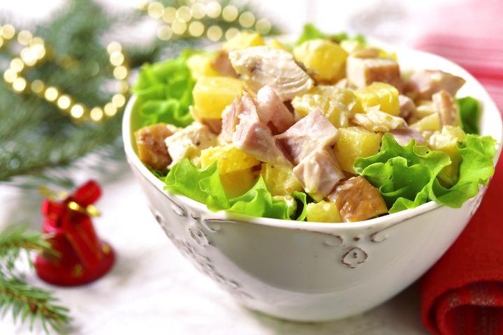 """Новогодний салат """"Гавайский"""""""