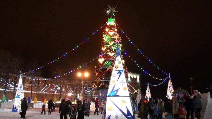 Площадь Минина на Новый 2019 год