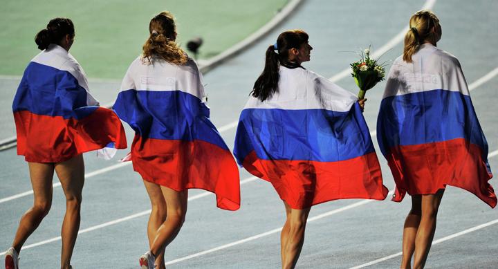 Российские легкоатлеты