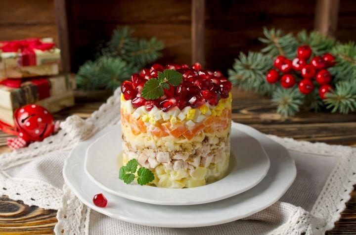 """Новогодний салат """"Красная шапочка"""""""