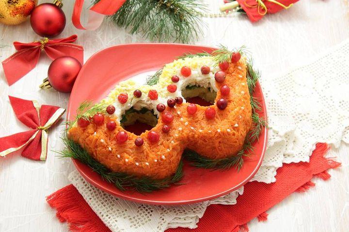 """Новогодний салат """"Маска"""""""