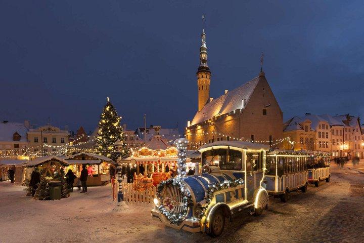 новогодний паровоз в Таллине