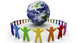 человечки вокруг земного шара