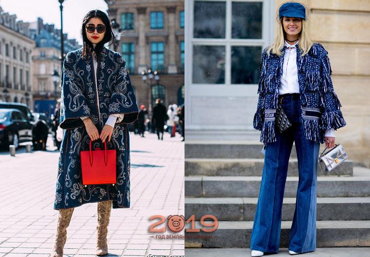 Джинсовые образы уличной моды 2018-2019 года