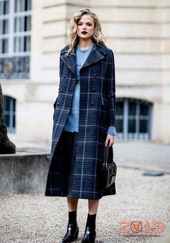 780c9e0e703 Модное клетчатое пальто зима 2018-2019