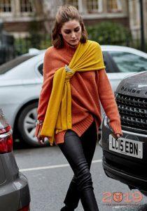 Модный свитер уличная мода 2019 года
