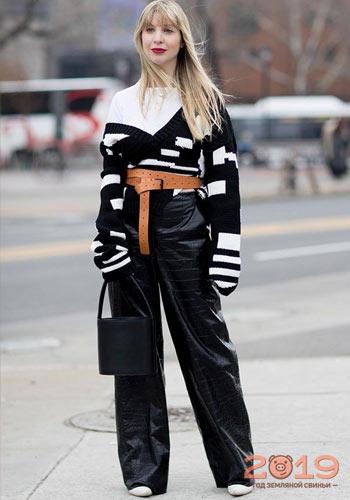 f8a91275dc2 Вязаные вещи уличная мода 2018-2019