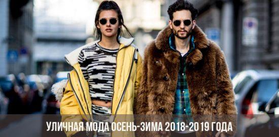Уличная мода осень-зима 2018-2019 года